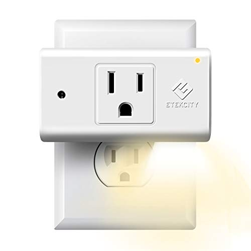 Etekcity Smart Plug, Works with Alexa and Google Home, WiFi Energy Monitoring Outlet with Automatic Night Light, No Hub Required, ETL Listed, White, 15A/1800W
