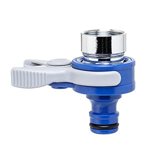 Tatay Adaptador Universal Top Line para Grifo de Interiores, Rosca Externa 24mm, Rosca Interna 22mm, Conector Universal, Protección Solar, Fácil Instalación, Azul