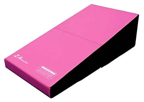 Z ATHLETIC Junior Incline Cheese Mat Wedge Mat for Gymnastics, Cheerleading (Pink/Black)