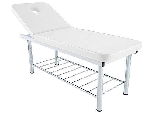 Lettino letto massaggio estetica professionale poltrona studio reclinabile FISIOTERAPIA FISIOTERAPISTA TATTOO TATUAGGI RELAX (Bianco)