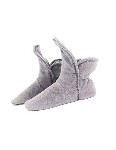 RAIKOU Hausschuhe für Damen, Herren aus Micro Fleece mit ABS und Rutschfester Sohle Größe,Super Flauschige Hüttenschuche (40-43, Charcoal Grau)