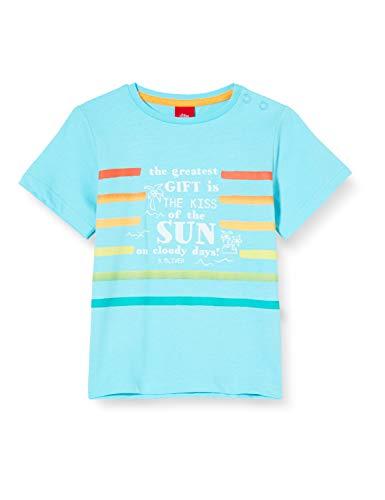 s.Oliver Junior Baby-Jungen 405.10.005.12.130.2037261 T-Shirt, 6224 türkisblau, 74