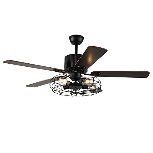 Fetcoi Ventilador de techo LED de 3 velocidades, 220 V, moderno, para dormitorio, salón, comedor