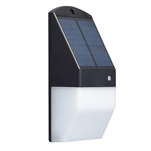 OSALADI - Lámpara Solar de Pared para Exteriores, Detector de Movimiento Solar para Puerta de casa, Yard, Garaje, Color Negro