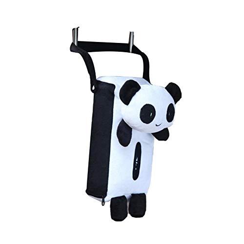 SHOH Auto creatieve tissuehouder, leuk panda speelgoed papier cosmeticatoek box cover houder, servet box papier opbergdoos voor auto badkamer slaapkamer kantoor voor auto decoratie