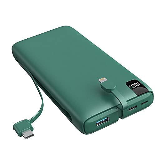 SOARAISE Cargador Portátil 26800mAh USB-C PD 18W Power Bank de Carga Rápida Paquete de Batería Externa con iOS Incorporado y Cable USB C para Teléfonos Inteligentes, Tabletas y Más