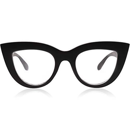SOJOS Retro Vintage Cateye Blue Light Blocking Glasses for Women Computer Glasses SJ2939 with Black Frame/Anti-Blue Light Lens Shops Sunglasses