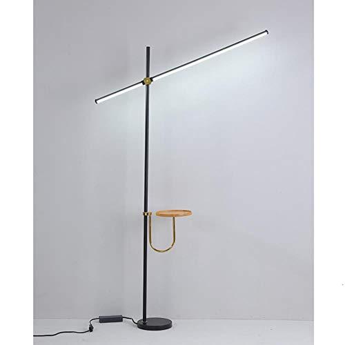 Zwarte postmoderne led-vloerlamp voor woonkamer staande lamp 20 W tafellamp slaapkamer- en kantoorverlichting 110 V-220 V 2