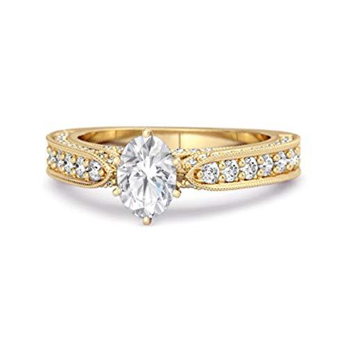 Shine Jewel Multi Elija Sus Detalles de Piedras Preciosas Anillo de Plata 925 con Solitario Chapado en Oro Amarillo de 1,50 Quilates (11, cz Blanca)