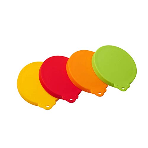 For Sale! ALWMHWOE Silicone Pet Can Covers lids-4 Pack for Pet Dog Cat Food Can Top One Size Fits Al...