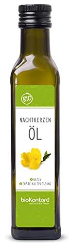 Bio Nachtkerzenöl 250ml nativ und kaltgepresst I 100% rein von bioKontor
