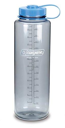 Nalgene 'Everyday Silo Lo' –Trinkflasche, 1,5l, Grau mit blauem Deckel