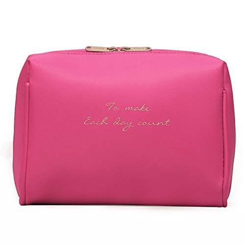 Moda Mujeres cosméticos bolsas de viaje maquillaje bolsas sólidas Moda para mujer maquillaje bolsa de maquillaje necer organizador kits bag para las mujeres Bolsas de aseo (Color : Rose)