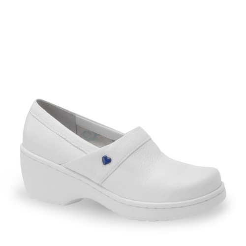 Nurse Mates Women's Callie Slip-on Shoes White