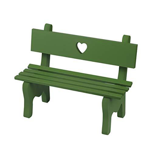 BESPORTBLE Holz Miniatur Bank Miniatur Landschaft Ornament Veranda Stuhl Figur für Fotokabine Requisiten Home Decoration