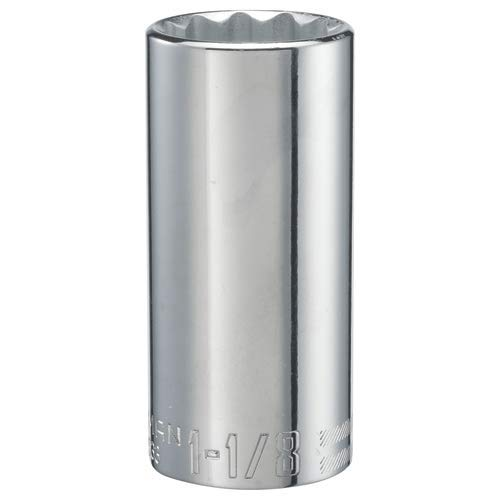 CRAFTSMAN Deep Socket, SAE, 1/2-Inch Drive, 1-1/8-Inch, 12-Point (CMMT47533),Full Polish