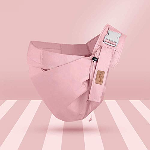 S&T INC. Baby Sling Carrier Front Hug Newborn Multi-Function Baby Carrier Durable Adjustable Baby Carrier for Newborn Baby,Pink
