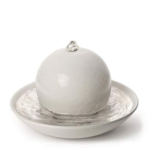 PRIMAVERA Duftbrunnen Rondo Cremeweiß matt - Luftbefeuchter, Diffuser, Raumduft - Reinigung und Erfrischung der Raumluft - Aromatherapie