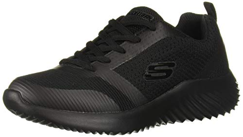 Skechers Kids Boy's Bounder 98303L School Uniform Shoe, Black/Black, 12 Medium US Little Kid