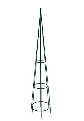 KADAX Rankhilfe, freistehende Ranksäule für Garten, Rosen, Kletterpflanzen, Rankobelisk, Rankturm aus Stahl, Kletterhilfe, Rankgestell, wetterfeste Pyramide, Deko, grün (Höhe: 150 cm)