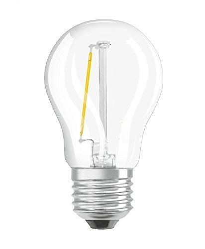 Osram LED Star Classic P Lampe, in Tropfenform mit E27-Sockel, nicht dimmbar, Ersetzt 15 Watt, Filamentstil Klar, Warmweiß - 2700 Kelvin, 1er-Pack