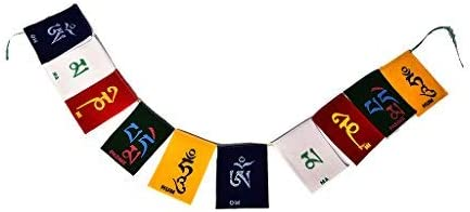 Bridge2Shopping Buddhist Prayer Flag , Flags for Motorbike , Car , Cycle , Tibetian Budhist Flag , 46 INCH / 117 CM