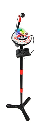 VTech 80-165874 Kidi Super Star Lightshow black Karaoke Karaokemaschine, Normalverpackung, Mehrfarbig