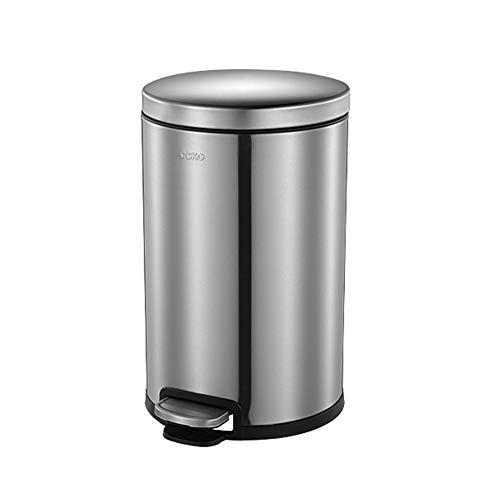 YCZM Edelstahl-Papierkorb Haushalt Wohnzimmer Fußbetätigte Abfalleimer Toilette Toilette Toilette Küche Schlafzimmer Wohnzimmer mit Deckel,6 liters
