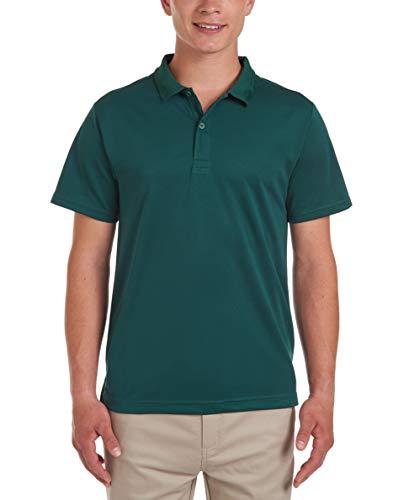 Chaps Young Mens Uniform Short Sleeve Performance Polo, Hunter, 34/35