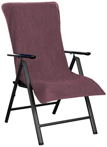Brandsseller Frottee-Schonbezug für Gart enstuhl und Gartenliege sowie als Strandliegenauflage - aus 100% Baumwolle - (Brombeere)
