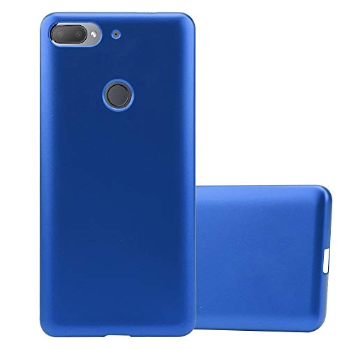 Cadorabo Hülle für HTC Desire 12 Plus in METALLIC BLAU - Handyhülle aus flexiblem TPU Silikon - Silikonhülle Schutzhülle Ultra Slim Soft Back Cover Hülle Bumper