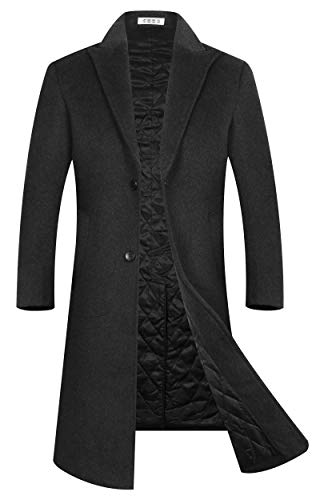 APTRO Womens Winter Dress Coats Wool Blend Double Breasted Long Peacoat