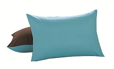 Lux Hotel Bedding Reversible Microfiber Pillow Shams, 2 Pack
