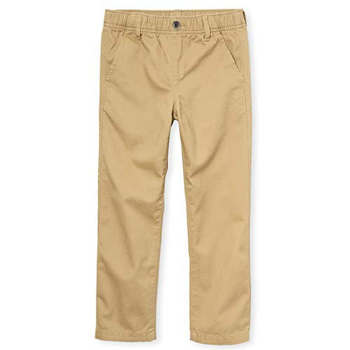 The Children's Place boys Pull On Chino Pants, Flax, 8