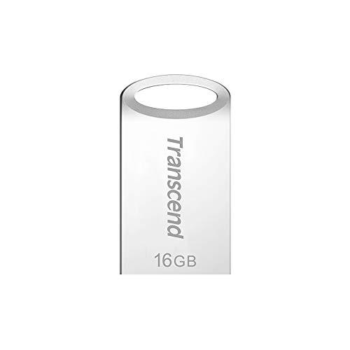 Transcend 16GB kleiner und kompakter USB-Stick 3.1 Gen 1 (für den Schlüsselanhänger) JetFlash silber TS16GJF710S