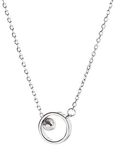 ZHIFUBA Co.,Ltd Collar Anillo Geométrico Collar Mujer Regalo para Mujer