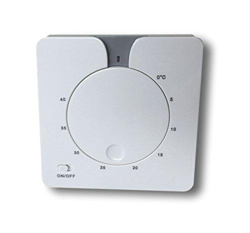 SM-PC®, Thermostat Fußbodenheizung Elektroheizung Unterputz weiß #714