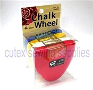 Le Summit Chalk Wheel - Blue, Red, White, Yellow Four Color Set Fabric Markers