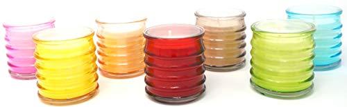 Coraz Home - Confezione da 6 barattoli di Vetro alla citronella Multicolore, Repellente per zanzare e Insetti, Cera vegetale e stoppino in Cotone, Durata 18 Ore Ogni Candela