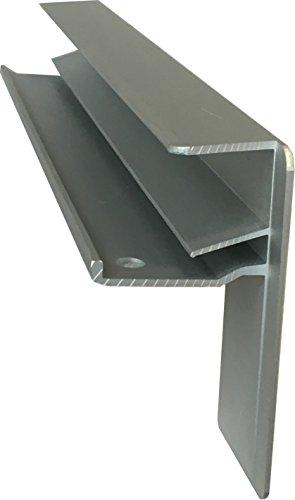 Fensterbank Putz Seitenteile 90 mm in Silber