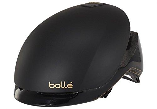 Bolle Messenger Premium Casco de Bicicleta, Unisex Adulto, Black & Gold, Large 58-62 cm