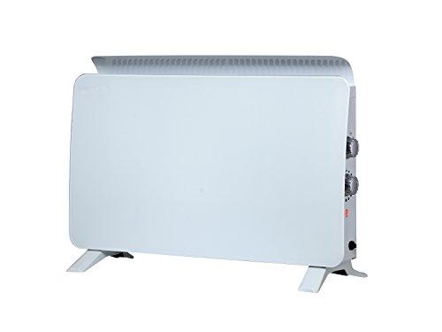 PURLINE ZAFIR H1500N W Radiador eléctrico por convección, Panel de Cristal Templado Color Blanco, 750 W / 1500 W, Suelo