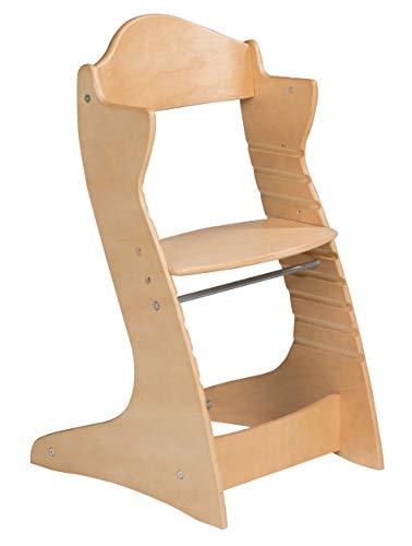 roba Treppenhochstuhl 'Chair Up ', mitwachsender Hochstuhl für Babys & Kinder, Kinderhochstuhl Holz, natur
