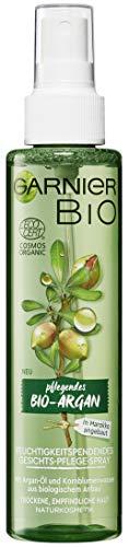 Garnier Bio Argan Feuchtigkeitsspendendes Gesichts-Pflege-Spray, Naturkosmetik, Gesichtspflege mit Arganöl (2 x 150 ml)
