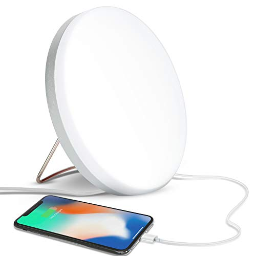 Best Prices! Brightech Light Therapy Lamp with Built-in USB Port for Charging - 10,000 LUX, LED UV F...