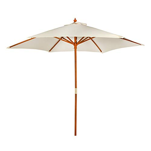 Aktive - Parasol hexagonal Garden diámetro 270 cm - Mástil de madera 38 mm - Color vainilla (ColorBaby 53860)