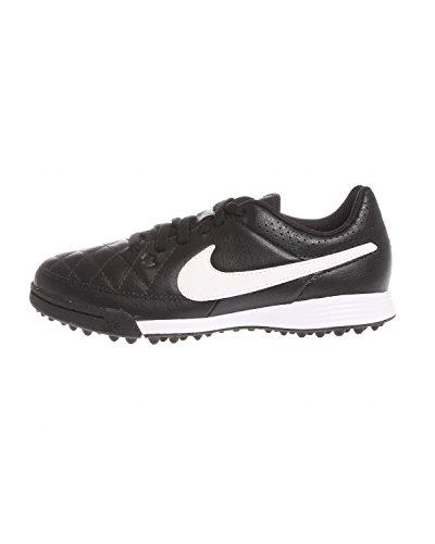 Nike Mädchen Jr Tiempo Genio Leather TF Turnschuhe, Schwarz/Weiß/Schwarz (Schwarz/Weiß-Schwarz), 38 EU