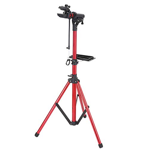 Bike Repair Stand Bike Repair Stand -Shop Home Bicycle Mechanic Maintenance Rack- Height Adjustable Workstands (Color : Red, Size : 120-165cm)