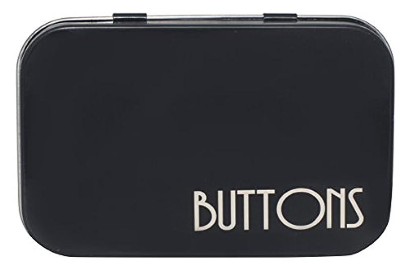 Hemingway Buttons Tin, Metal, Black, 6 x 24 x 14 cm
