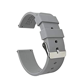 20mm Cool Grey - BARTON Watch Bands - Soft Silicone Quick Release Straps